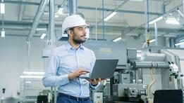 engineer in modern industrial environment